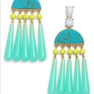Baublebar DALÍ DROPS turquoise statement earrings